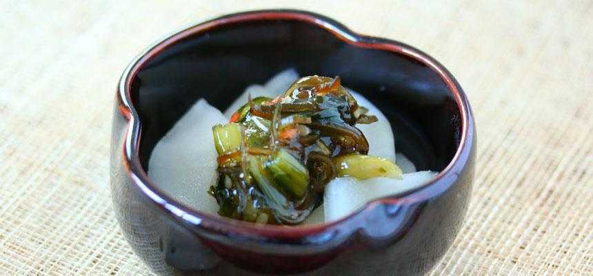 カブと野沢菜ワサビ和え