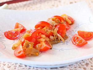 トマトのねぎザーサイ和え
