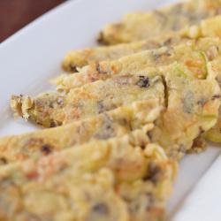 野沢菜油炒めのチヂミ レシピ