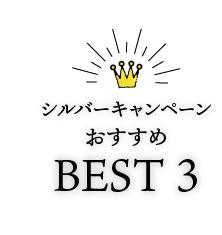 シルバーキャンペーンおすすめBEST3